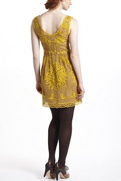 Honeycomb Lace Dress (Gold). Anthropologie. $288.00