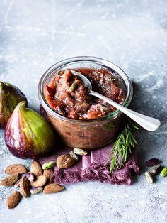 Fig Recipes, Chutney Recipes, Sauce Recipes, Healthy Recipes, Fig Jam, Fresh Figs, Pesto Recipe, Food Inspiration, Food Photography
