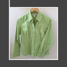 Talbots Cotton Button-down Shirt Fitted shirt in 100% cotton. Talbots Tops Button Down Shirts