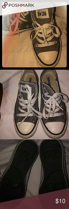 All Star Converse sneakers All Star Converse sneakers; gray; gently used; size 6 Converse Shoes Sneakers
