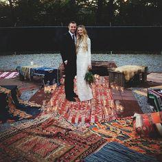 Bohemian wedding in the backyard of Imogene + Willie. Nashville tn.