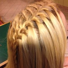 Obsessed with doing the waterfall braid emmaewest
