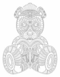 Teddy Bear Abstract Doodle Zentangle Coloring Pages Colouring Adult Detailed Advanced Printable Kleuren Voor Volwassenen Coloriage