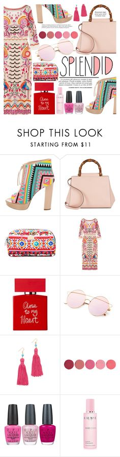 """""""Embroidered prints"""" by yoa316 ❤ liked on Polyvore featuring Jerome C. Rousseau, Gucci, Chloé, Dolce&Gabbana, Temperley London, Conran, Kenneth Jay Lane, Kjaer Weis, OPI and Orlane"""