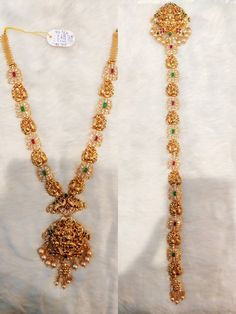 India Jewelry, Gold Jewelry, Jewelery, Gold Necklace, Vaddanam Designs, Fancy Blouse Designs, Fashion Jewelry, Women's Fashion, Cross Stitch Samplers