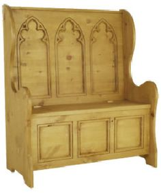 Beautiful monks bench with storage.