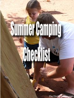 Summer Camping Checklist - list of things you need for a camping trip.