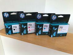 Genuine Hp 711 Ink Design Jet Ink Cartridges - Full Set Expiry 2021 #HP