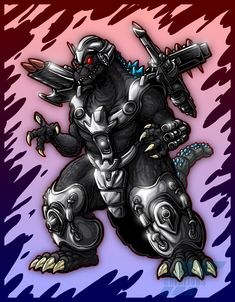 Trendmasters Power-Up Godzilla by AlmightyRayzilla on DeviantArt