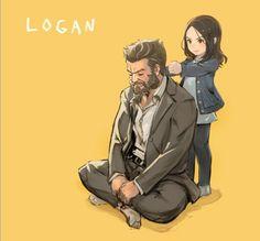 Laura Kinney wolverine and logan movie and marvel drawn by muuten Logan Wolverine, Wolverine Art, Marvel E Dc, Marvel Heroes, Marvel Avengers, Hugh Jackman, Marvel Characters, Marvel Movies, Xman Marvel