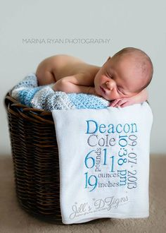 Custom Made Embroidered Infant Newborn Baby by JillsDzigns on Etsy, $29.00