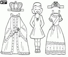 Paper Doll Coloring Page Adult Coloring Pages Pinterest