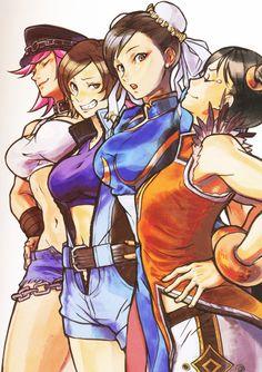 Years of Fighting (Street Fighter x Tekken Girls) Chun Li, Video Game Characters, Female Characters, Tekken Girls, Snk King Of Fighters, Street Fighter Tekken, Street Fighter Characters, Video Games Girls, Girls Anime