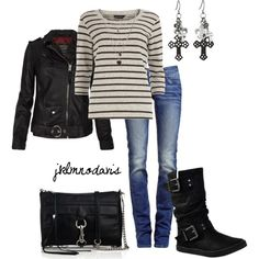 """Black and Gray"" by jklmnodavis on Polyvore"