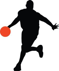 Basketball Player Silhouette - 59 : Custom Wall Decals, Wall Decal Art, and Wall Decal Murals | WallMonkeys.com