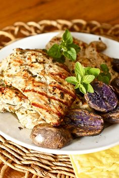 grilled greek chicken with fresh herbs