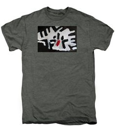 Patrick Francis Premium Platinum Heather Designer T-Shirt featuring the painting White Tiger 2014 by Patrick Francis