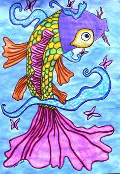 """From exhibit """"Grade 6 2013 'Koi Fish'"""" by Nina1227"""