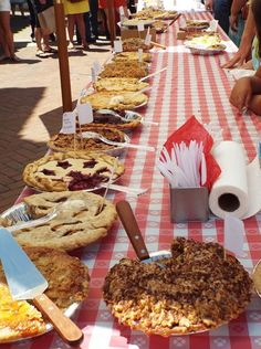 The annual Claremont Pie Festival is held each March
