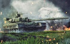 Your source for the best high quality wallpapers on the Net! Army Vehicles, Armored Vehicles, T 64, Battle Tank, World Of Tanks, Desktop Pictures, High Quality Wallpapers, Colorful Wallpaper, Military Art