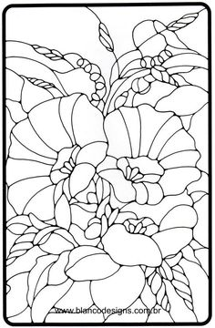 This is stained glass coloring flower designs is one you should enjoy to color and have fun with.Get more of stained glass coloring pages by clicking this pin. Stained Glass Quilt, Stained Glass Flowers, Stained Glass Projects, Stained Glass Patterns, Mandala Coloring, Colouring Pages, Coloring Books, Glass Painting Designs, Paint Designs