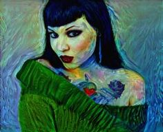 Deepdream pinup by DonkehSalad23