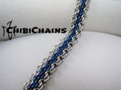Bracelet - Oops or Euro 4 in 1 Bias 2 by Chibichains #Chainmail #chainmaille #Euro4in1Bias #Oops #bracelet #Chibichains