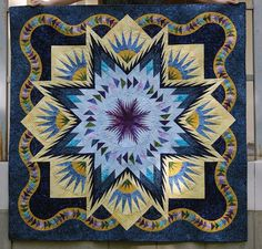 Glacier Star, Quiltworx.com, Made by Jane Milyaeva.