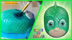GECKO - PJ Masks Cake (HOW TO) Pj Masks Birthday Cake, 1st Birthday Boy Themes, Superhero Birthday Cake, Baby Boy Birthday, 3rd Birthday, Pj Mask Cupcakes, Cupcakes For Boys, Pj Masks Cakes, Mask Party