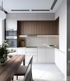 Modern Kitchen Interior Remodeling 20 Minimalist Kitchen Ideas Beautiful Simple and Minimalism Styled. Find the best ideas for your minimalist style kitchen that suits your taste. Browse for amazing pictures of minimalist style kitchen for inspiration. Kitchen Sets, Home Decor Kitchen, New Kitchen, Home Kitchens, Compact Kitchen, Apartment Kitchen, Condo Kitchen, Mini Kitchen, Kitchen Wood