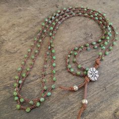 Double Strand Turquoise Knotted Leather von TwoSilverSisters, $45,00