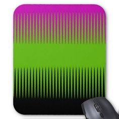 Wave Design Pink & Green Mouse Pad - Halloween happyhalloween festival party holiday
