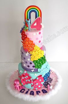 Celebrate with Cake!: My Little Pony Cake cake my little pony cake birthday party cake girl pink blue rainbow cookie cupcake My Little Pony Party, Bolo My Little Pony, Birthday Cake Girls, Birthday Ideas, Birthday Cakes, 2nd Birthday, Huge Cake, Bow Cakes, Cupcakes
