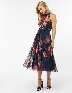 Rosa Mesh Midi Dress