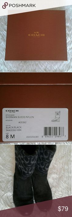 Coach boots Beutiful suede black coach boots Coach  Shoes Ankle Boots & Booties