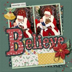 Christmas Bells Collection by Lindsay Jane Holiday Words Templates by Miss Fish Templates, GingerScraps is a fun and welcoming Digital Scrapbooking community. Baby Scrapbook Pages, Baby Boy Scrapbook, Birthday Scrapbook, Scrapbook Templates, Scrapbook Designs, Scrapbook Sketches, Scrapbook Page Layouts, Scrapbook Cards, Christmas Scrapbook Layouts