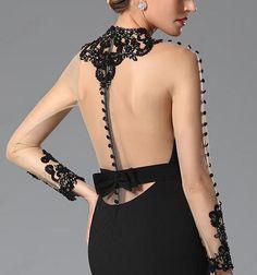 Rochii de ocazie de seara neagra dantela Nasa, Backless, Dresses, Fashion, Vestidos, Moda, Fashion Styles, Dress, Fashion Illustrations