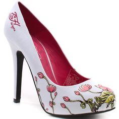 I don't usually go for Ed Hardy shoes but this irresistible pink flower print on white was just too great to pass up.