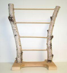 Natural handmade birch bark jewelry display stand. $50.00, via Etsy.
