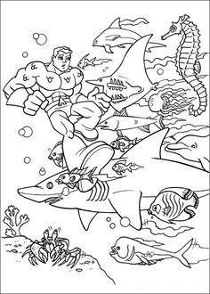 Super Friends Fargelegging for barn. Tegninger for utskrift og fargelegging nº 1