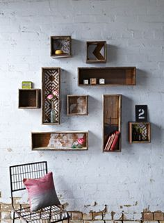 Reclaimed shadow boxes