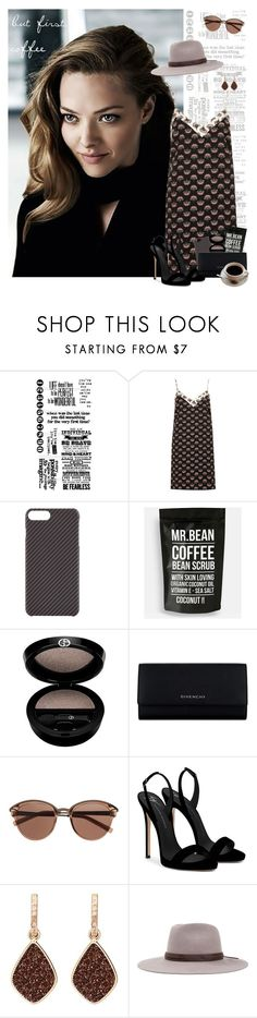 """but first, coffee"" by lysianna ❤ liked on Polyvore featuring Tim Holtz, River Island, La Mela, Giorgio Armani, Givenchy, Witchery, Giuseppe Zanotti, H.Azeem, Brixton and Natalie B"
