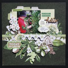 Kaisercraft ' Botanica' by Wendy Smith - Hi Wendy here with another one of Kaisercraft's latest ranges' Botanica'. Baby Scrapbook, Travel Scrapbook, Anna Craft, Craft Cupboard, General Crafts, Flowers Garden, School Fun, Craft Items, Scrapbooking Layouts