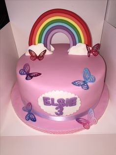 Edible rainbow and butterflies