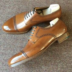 SAINT CRISPIN'S — Straight toe cap Derbys. #saintcrispins  (at Saint...