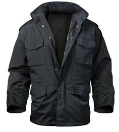 M-65 Storm Jacket offers the styling of our classic M-65 Jackets with the added wet weather protection. - Polyurethane coating for water resistance - 210 denier nylon with a poly/cotton lining - 4 sna