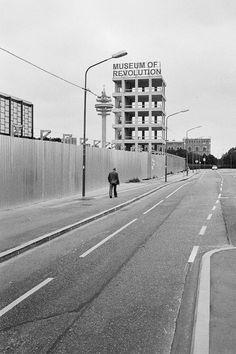 Museum of Revolution by Palec Dieselpunk, Architecture, Vienna, Revolution, Sidewalk, Street View, Museum, Black And White, Photography