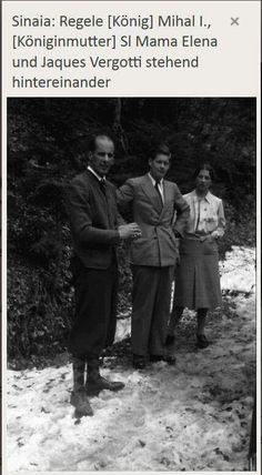 22 aprilie 1941 - Sinaia MS Regele Mihai I si Regina-mama Elena . In ultimile doua fotografii impreuna cu Jacques Vergotti, prefect al palatului regal.  Foto : Willy Pragher
