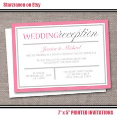 Wording for Wedding Reception Invitations THIS IS WHAT I NEED we