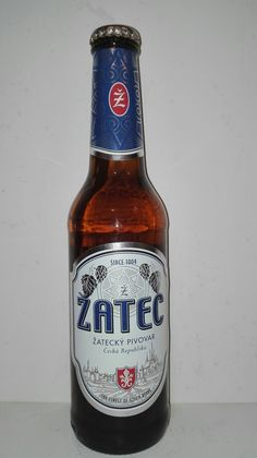 Žatec světlý ležák Czech Beer, German Beer, Beverages, Drinks, Beer Label, Etiquette, Brewery, Beer Bottle, Food
